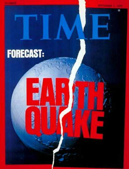 Time - Earthquakes - Sep. 1, 1975 - Natural Disasters - Environment
