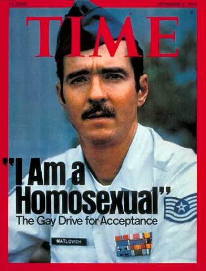 Time - I Am a Homosexual' - Sep. 8, 1975 - Homosexuality - Social Issues - Military