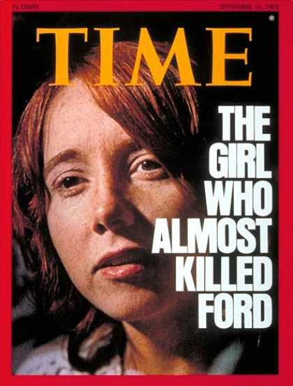 Time - Lynette Fromme - Sep. 15, 1975 - Crime - Assassinations - Gerald Ford