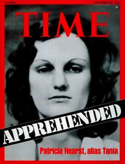 Time - Patty Hearst - Sep. 29, 1975 - Crime - Kidnapping