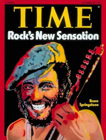 Time - Bruce Springsteen - Oct. 27, 1975 - Rock - Singers - Most Popular