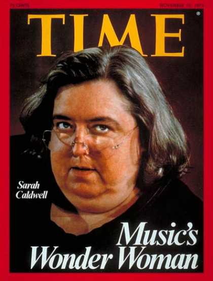 Time - Sarah Caldwell - Nov. 10, 1975 - Conductors - Classical Music - Women - Music