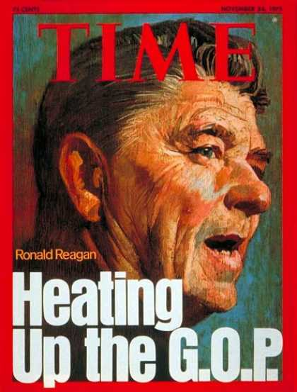 Time - Ronald Reagan - Nov. 24, 1975 - Presidential Elections - Politics