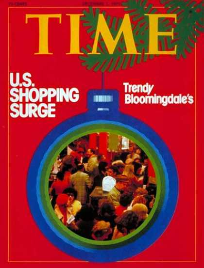 Time - Dec. 1, 1975 - Holidays - Consumers