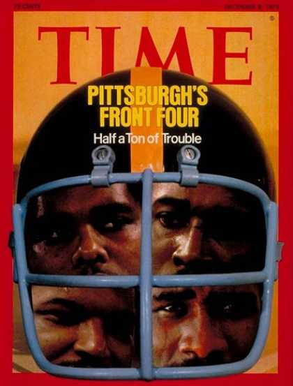 Time - The Pittsburgh Steelers - Dec. 8, 1975 - Football - Sports