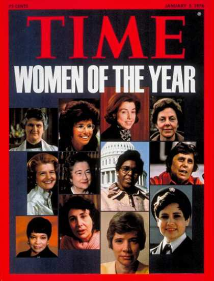 Time - American Women, Women of the Year - Jan. 5, 1976 - Person of the Year - Women -