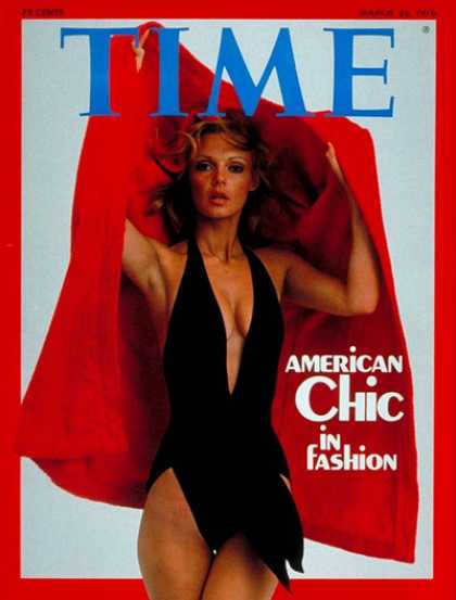 Time - American Chic - Mar. 22, 1976 - Fashion - Women - Society