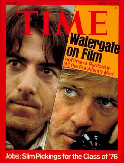 Time - Dustin Hoffman & Robert Redford - Mar. 29, 1976 - Dustin Hoffman - Robert Redfor