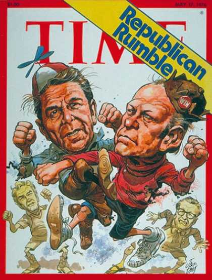 Time - Ford vs. Reagan - May 17, 1976 - Gerald Ford - Ronald Reagan - Presidential Elec