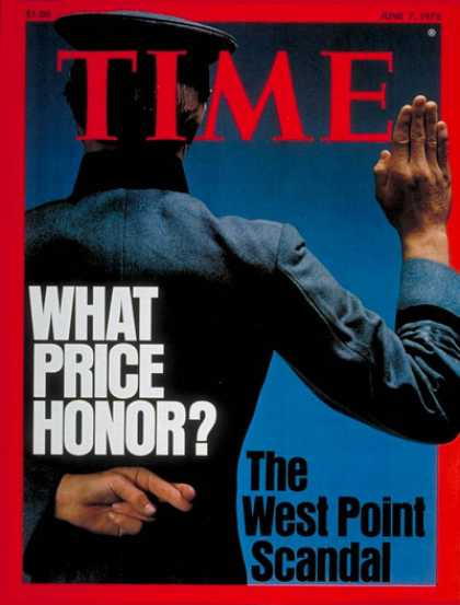 Time - The West Point Scandal - June 7, 1976 - Scandals - Military