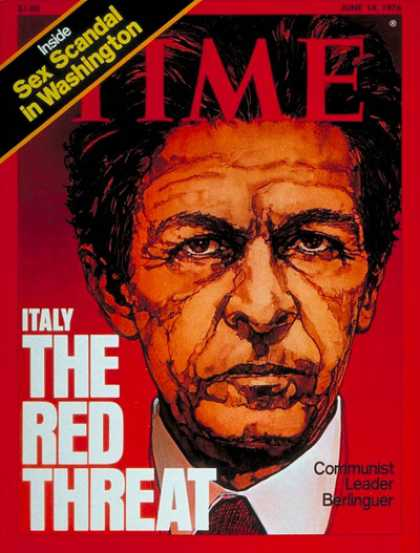 Time - Enrico Berlinguer - June 14, 1976 - Italy - Communism