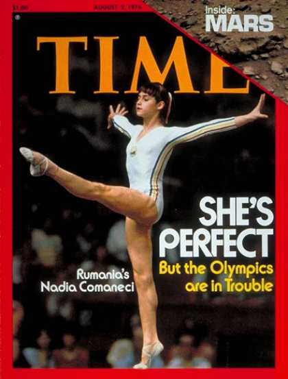 Time - Nadia Comaneci - Aug. 2, 1976 - Olympics - Gymnastics - Romania - Sports