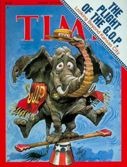 Time - The G.O.P. in Trouble - Aug. 23, 1976 - Politics