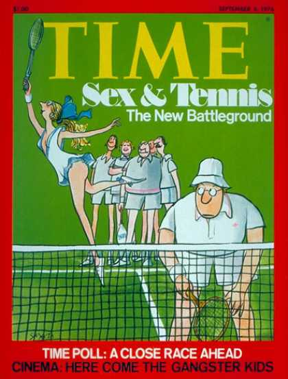 Time - Sex and Tennis - Sep. 6, 1976 - Society - Tennis - Sex - Sports