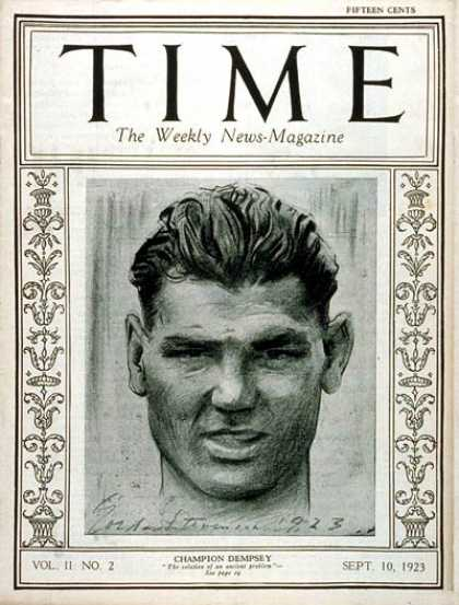 Time - Jack Dempsey - Sep. 10, 1923 - Boxing - Sports