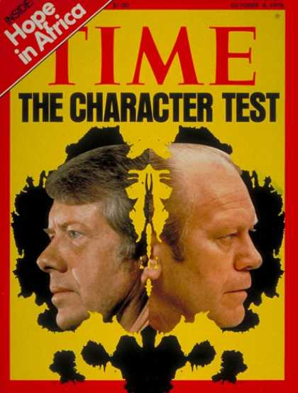 Time - Carter & Ford - Oct. 4, 1976 - Jimmy Carter - Gerald Ford - U.S. Presidents - Pr