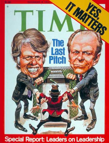 Time - Carter & Ford - Nov. 8, 1976 - Jimmy Carter - Gerald Ford - U.S. Presidents - Pr