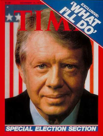 Time - Jimmy Carter - Nov. 15, 1976 - Democrats - Politics - Presidential Elections