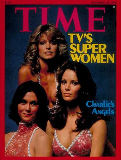 Time - Charlie's Angels - Nov. 22, 1976 - Television - Actresses - Most Popular - Women