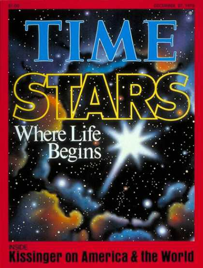 Time - Stars - Dec. 27, 1976 - Astronomy - Space Exploration - Science & Technology