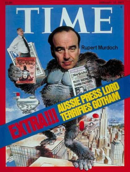Time - Rupert Murdoch - Jan. 17, 1977 - Media - Publishing - Business
