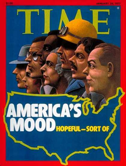 Time - America's Upbeat Mood - Jan. 24, 1977 - Society
