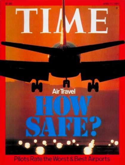 Time - Air Safety - Apr. 11, 1977 - Travel - Aviation - Safety - Airlines - Transportat