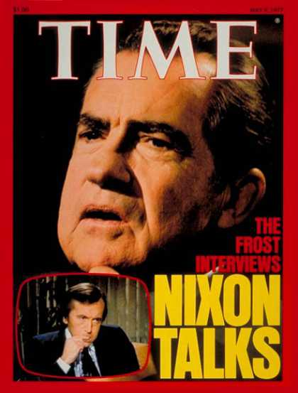 Time - Nixon on TV - May 9, 1977 - Richard Nixon - U.S. Presidents - Politics
