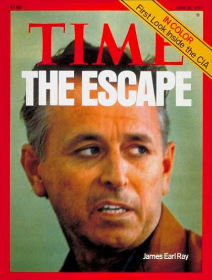 Time - James Earl Ray - June 20, 1977 - Crime - Assassinations - Martin Luther King