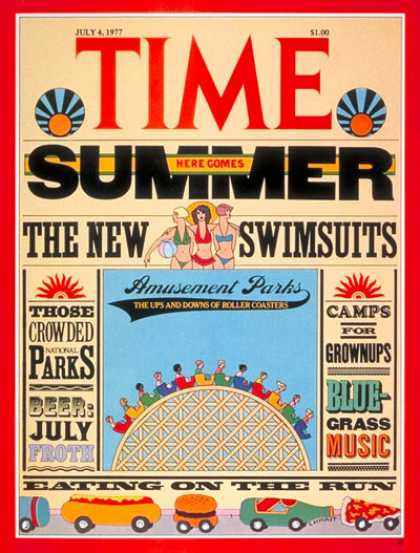 Time - Summer Fun - July 4, 1977 - Weather - Society