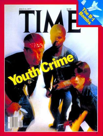 Time - Youth Crime - July 11, 1977 - Crime - Children - Teens - Social Issues