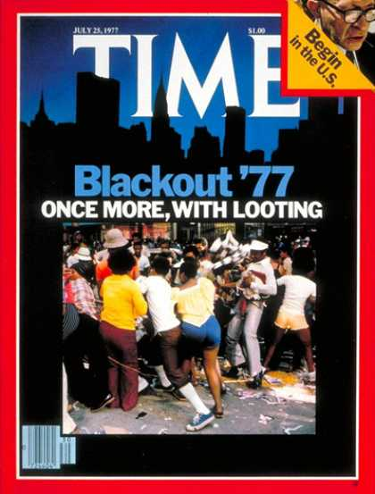 Time - New York Blackout - July 25, 1977 - Electricity - Energy - New York