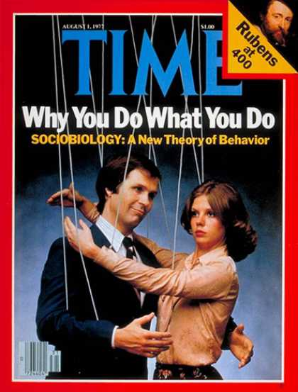 Time - Sociobiology - Aug. 1, 1977 - Health & Medicine - Society