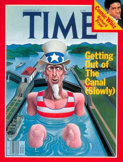 Time - Panama Canal - Aug. 22, 1977 - Panama - Latin America - Uncle Sam