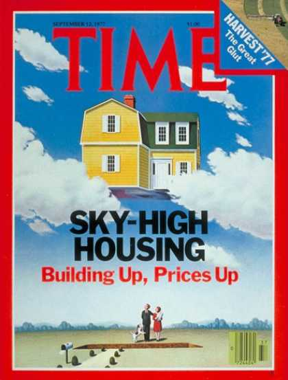 Time - Housing Costs - Sep. 12, 1977 - Economy - Housing - Business
