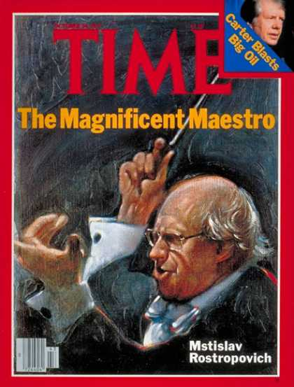 Time - Mstislav Rostropovich - Oct. 24, 1977 - Composers - Classical Music - Music