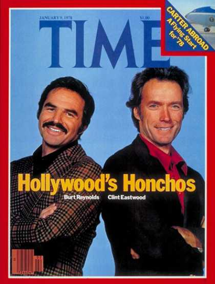 Time - Burt Reynolds and Clint Eastwood - Jan. 9, 1978 - Actors - Most Popular - Movies