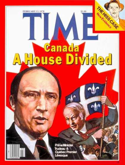 Time - Canada's Trudeau and Levesque - Feb. 13, 1978 - Canada
