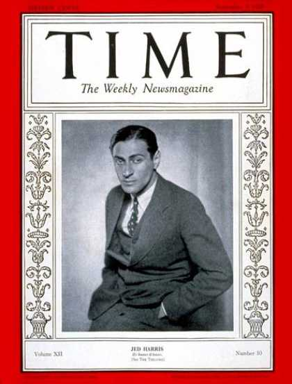 Time - Jed Harris - Sep. 3, 1928 - Theater - Producers