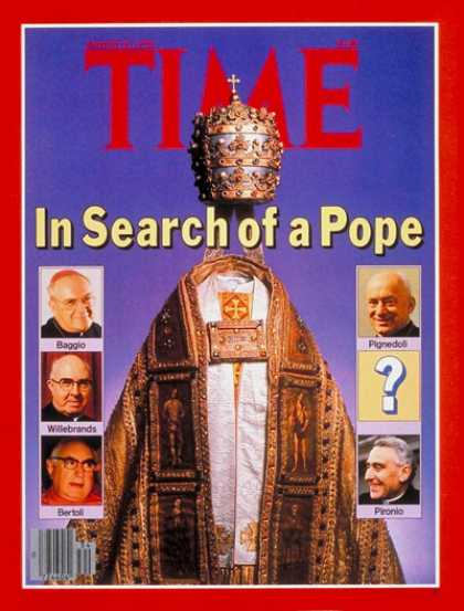 Time - Search for a Pope - Aug. 21, 1978 - Religion - Christianity - Popes - Catholicis