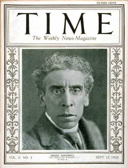 Time - Israel Zangwill - Sep. 17, 1923 - Books - Judaism