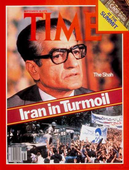 Time - The Shah of Iran - Sep. 18, 1978 - Mohammed Reza Pahlavi - Shah of Iran - Iran -