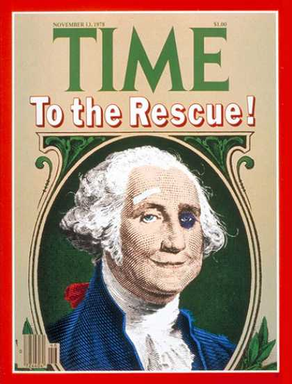 Time - Battered Dollar - Nov. 13, 1978 - Business - Money - Economy - George Washington