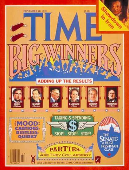 Time - Election Winners - Nov. 20, 1978 - Presidential Elections - Politics