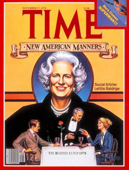 Time - Letitia Baldridge - Nov. 27, 1978 - Society