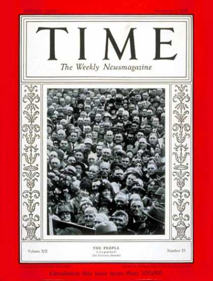 Time - American People - Nov. 5, 1928 - Society