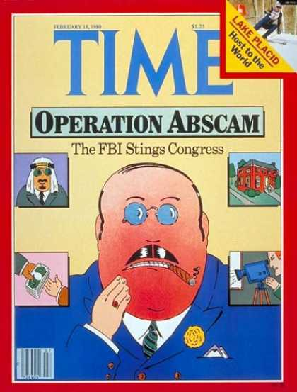 Time - Operation Abscam - Feb. 18, 1980 - Law Enforcement - Crime - Olympics - Politics