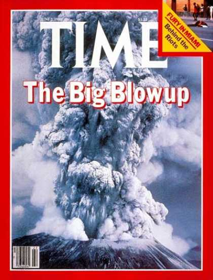 Time - Mount St. Helens - June 2, 1980 - Volcanoes - Environment
