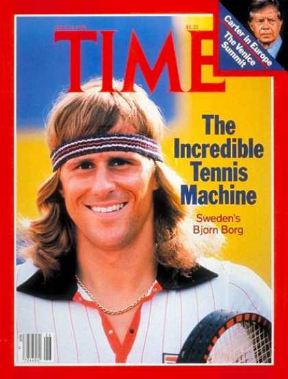 Time - Bjorn Borg - June 30, 1980 - Tennis - Sweden - Sports