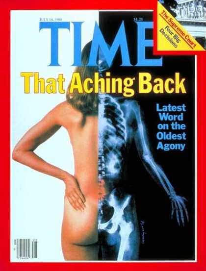 Time - Aching Backs - July 14, 1980 - Pain - Society - Women - Health & Medicine